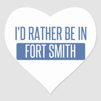 I'd rather be in Fort Smith Heart Sticker