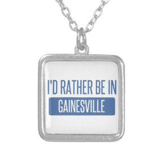 I'd rather be in Gainesville GA Silver Plated Necklace