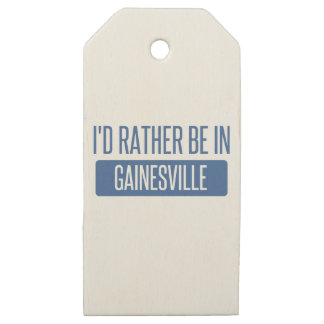 I'd rather be in Gainesville GA Wooden Gift Tags