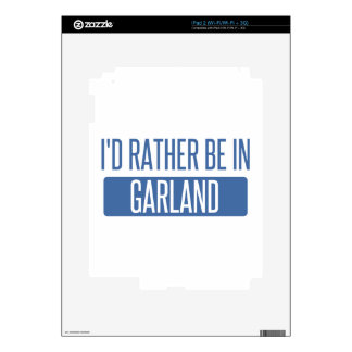 I'd rather be in Garland Decal For iPad 2
