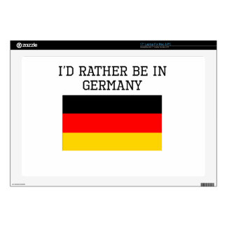 "I'd Rather Be In Germany Skins For 17"" Laptops"