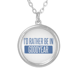 I'd rather be in Goodyear Silver Plated Necklace