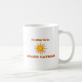 I'd Rather Be in Grand Cayman Classic White Coffee Mug