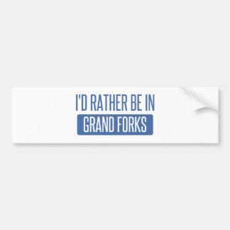 I'd rather be in Grand Forks Bumper Sticker