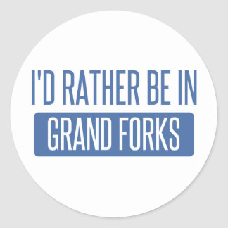 I'd rather be in Grand Forks Classic Round Sticker