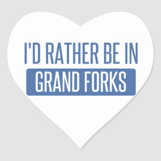 I'd rather be in Grand Forks Heart Sticker