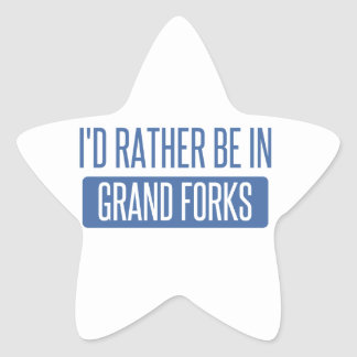 I'd rather be in Grand Forks Star Sticker
