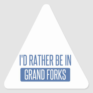 I'd rather be in Grand Forks Triangle Sticker