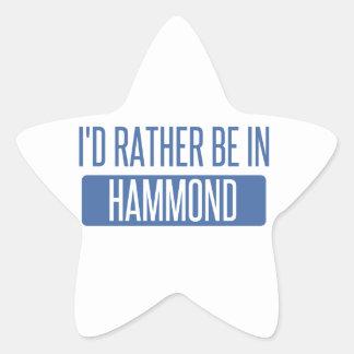I'd rather be in Hammond Star Sticker
