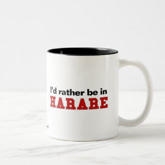 I'd Rather Be In Harare Two-Tone Coffee Mug