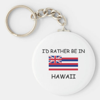 I'd rather be in Hawaii Keychain