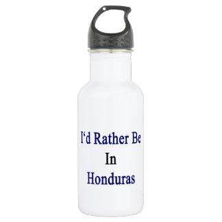 I'd Rather Be In Honduras 18oz Water Bottle