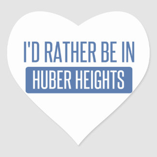 I'd rather be in Huber Heights Heart Sticker