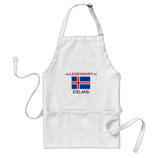 I'd Rather Be In ICELAND Adult Apron