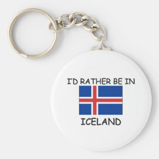 I'd rather be in Iceland Keychain