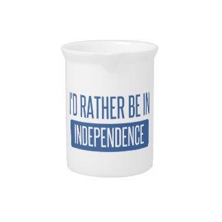 I'd rather be in Independence Beverage Pitcher
