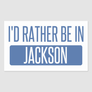 I'd rather be in Jackson TN Rectangular Sticker