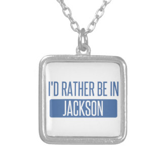 I'd rather be in Jackson TN Silver Plated Necklace