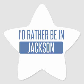 I'd rather be in Jackson TN Star Sticker