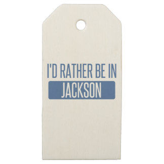 I'd rather be in Jackson TN Wooden Gift Tags