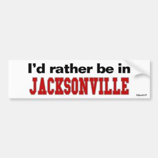 I'd Rather Be In Jacksonville Car Bumper Sticker