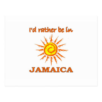I'd Rather Be in Jamaica Postcard