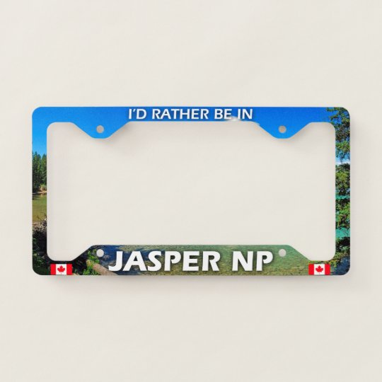 """Black License Plate Frame /""""I/'d rather be hiking/"""" Auto Accessory Novelty"""