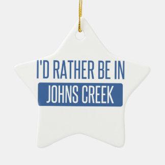 I'd rather be in Johns Creek Ceramic Ornament