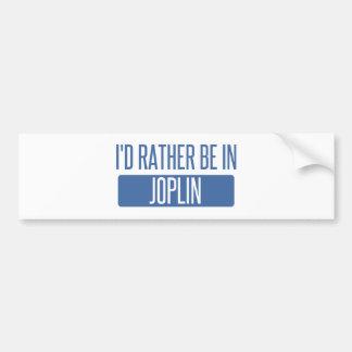 I'd rather be in Joplin Bumper Sticker