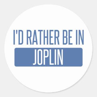 I'd rather be in Joplin Classic Round Sticker