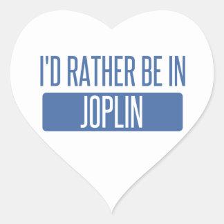 I'd rather be in Joplin Heart Sticker