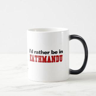 I'd Rather Be In Kathmandu 11 Oz Magic Heat Color-Changing Coffee Mug