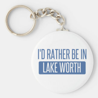 I'd rather be in Lake Worth Keychain