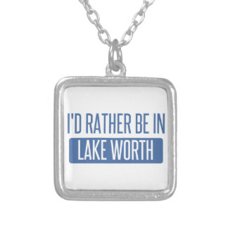 I'd rather be in Lake Worth Silver Plated Necklace