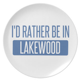 I'd rather be in Lakewood WA Plate