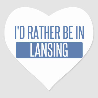 I'd rather be in Lansing Heart Sticker