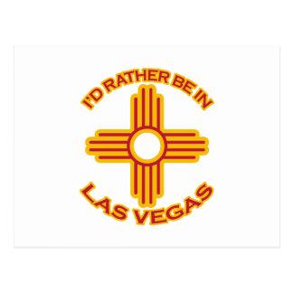 I'd Rather Be In Las Vegas Postcard