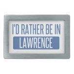 I'd rather be in Lawrence MA Belt Buckle