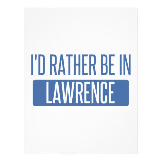 I'd rather be in Lawrence MA Letterhead