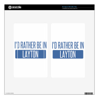 I'd rather be in Layton Decal For Kindle Fire
