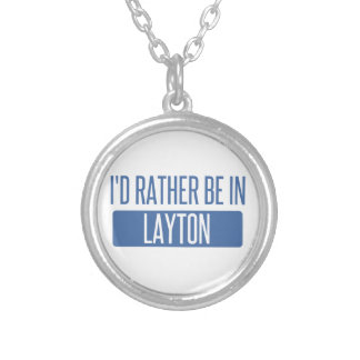 I'd rather be in Layton Silver Plated Necklace