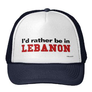 I'd Rather Be In Lebanon Trucker Hat