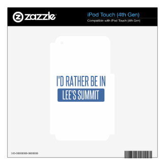 I'd rather be in Lee's Summit iPod Touch 4G Decal