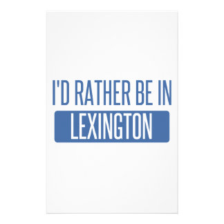 I'd rather be in Lexington Stationery