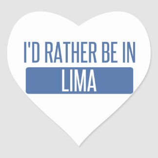 I'd rather be in Lima Heart Sticker