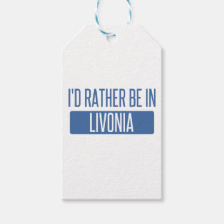 I'd rather be in Livonia Gift Tags