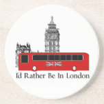 I'd Rather Be In London Beverage Coasters