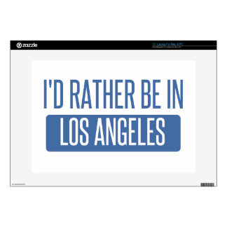 I'd rather be in Los Angeles Laptop Skin