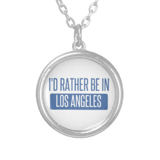 I'd rather be in Los Angeles Silver Plated Necklace