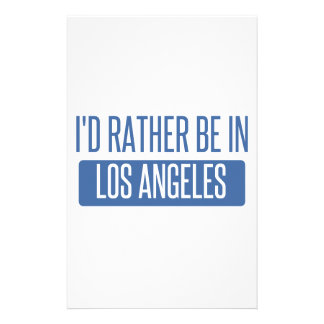 I'd rather be in Los Angeles Stationery